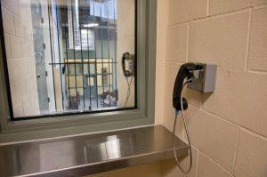 Prison visitors window