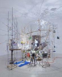 Sarah Sze, 'Triple Point (Planetarium),' 2013. Venice Biennale. Photo: Tom Powel Imaging