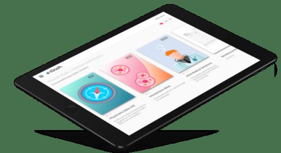 iDash Dashboard displayed as example on ipad