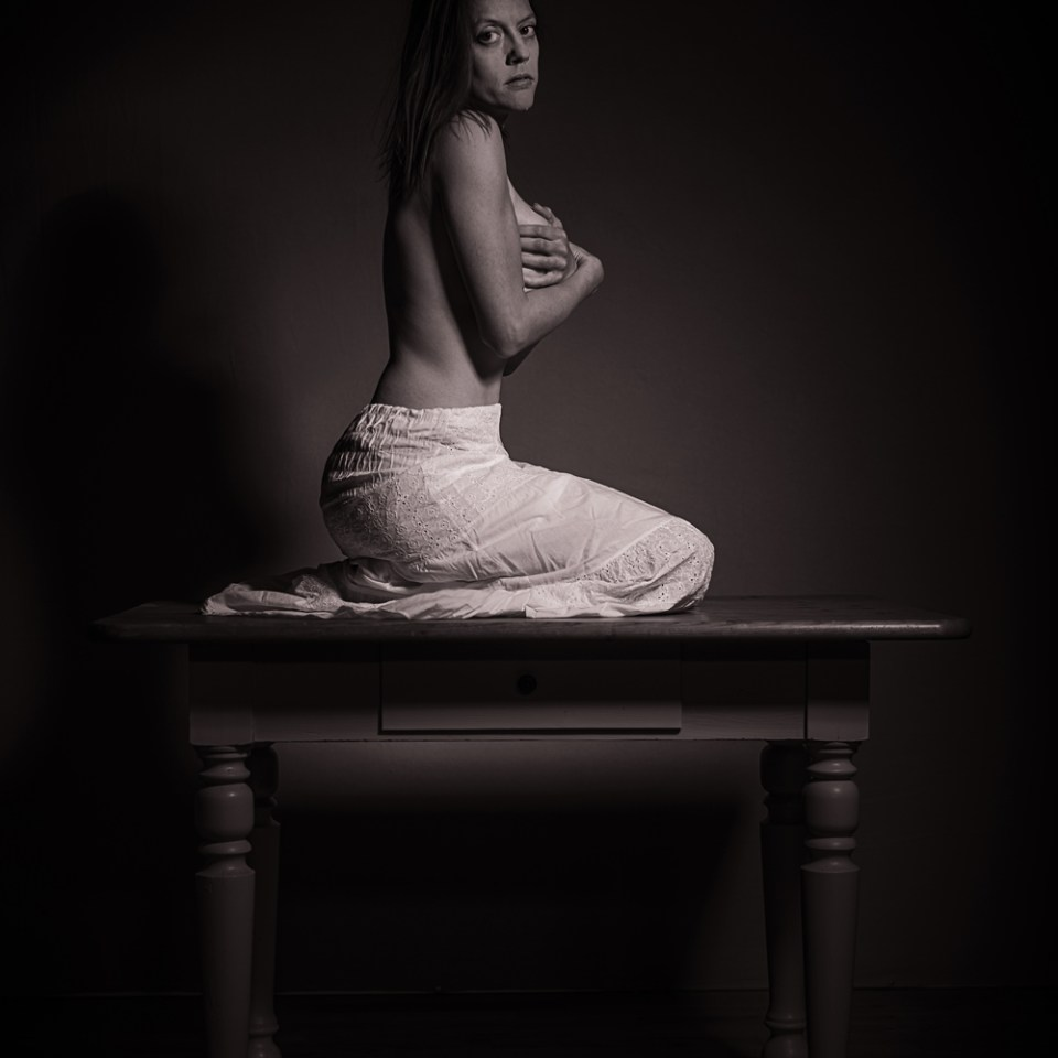 tabletop, akt, nude, tisch, table, serie, series