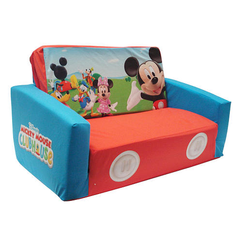 mickey mouse clubhouse flip open sofa with slumber bed antique looking sofas