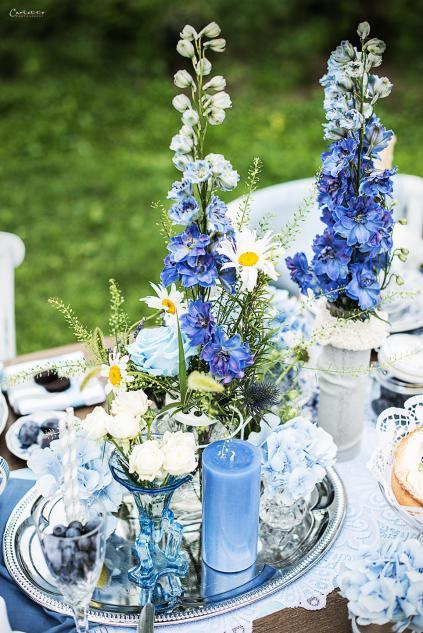 Blue Moon  Tischdeko in der Farbe BLAU
