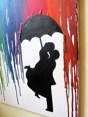 Crayon Art  Prchen im Regen