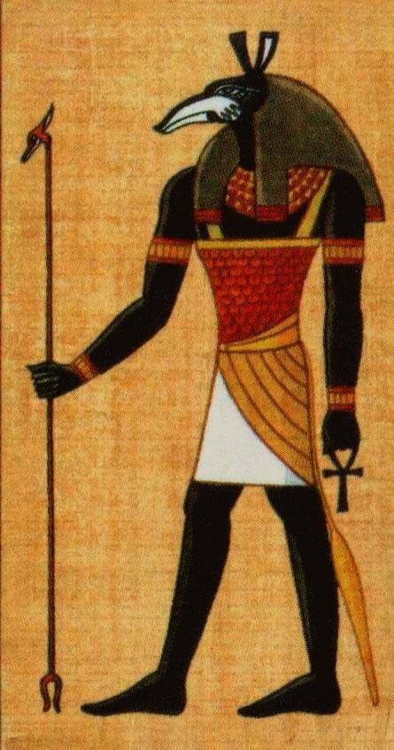 """Сет, в египетской мифологии бог пустыни, то есть """"чужеземных стран"""", олицетворение злого начала, брат и убийца Осириса."""
