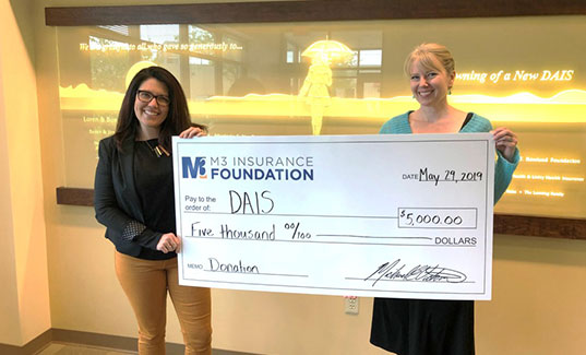 M3 Foundation's gift to DAIS of Madison