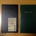 測量野帳風で180円の無印良品『手のひらサイズポケットノート』が非常にコンパクトで水にも強く丈夫です。