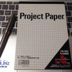 B6レポート用紙『Project Paper』とA5ノート併用が便利