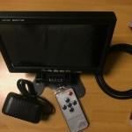 6千円程度の7インチ小型液晶ディスプレイ。HDMI、VGA、AV端子対応