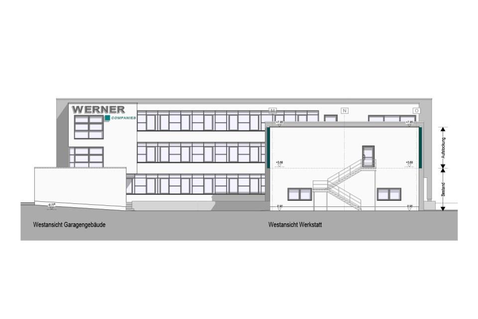 Erweiterung einer Firmenzentrale