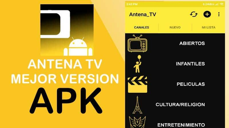 Antena tv apk mejor versi n para android y pc sin virus for Antena 3 online gratis