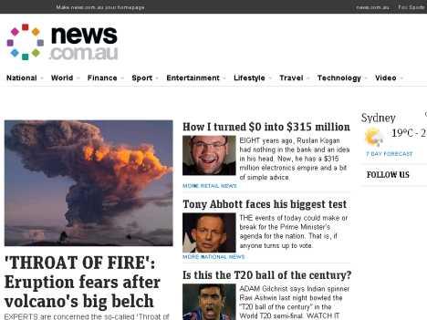澳洲新聞網 www.news.com.au