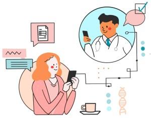 mobile health illustration