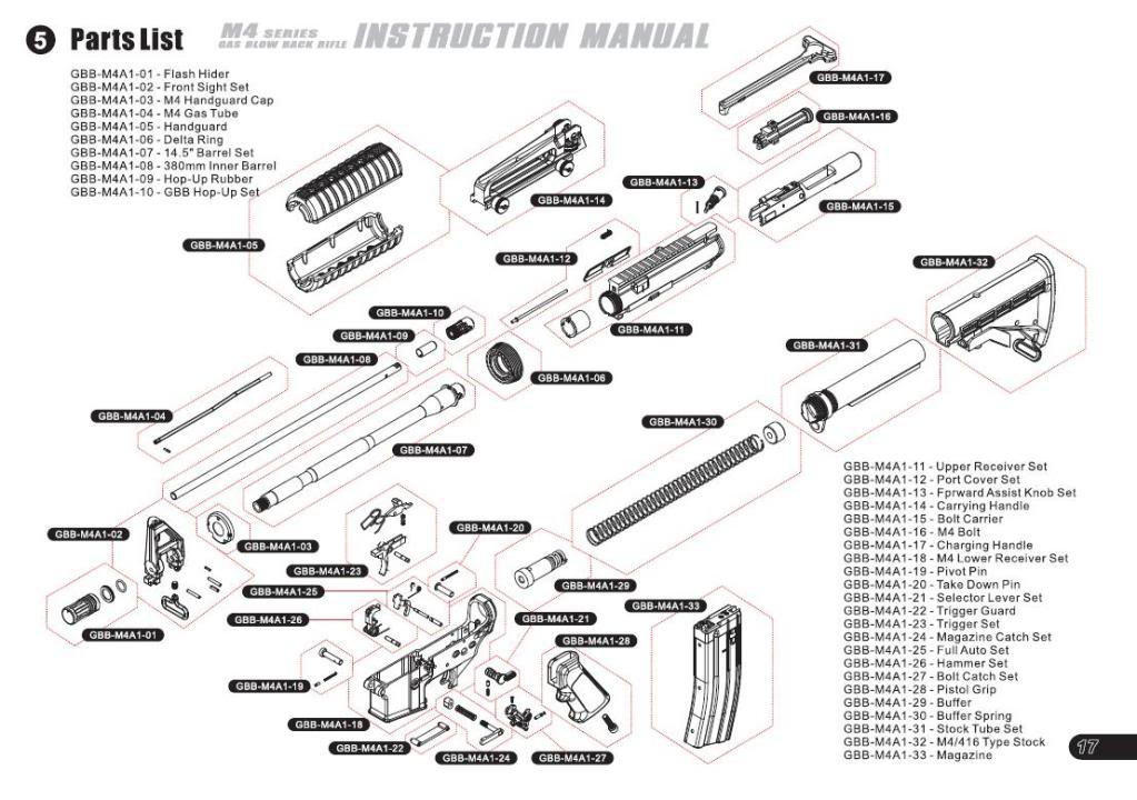 Airsoft M4 Parts Diagram, Airsoft, Free Engine Image For