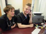 Nurse practitioner Carol Priest and physician assistant trainee Braden Bash oversee operations at Central Outreach Wellness Center South