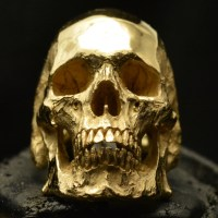 Mid Size Full Jaw  18k Rose | Yellow Gold  Skull Ring
