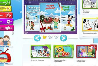 Disney Junior Christmas Card Creator And Coluring Fun