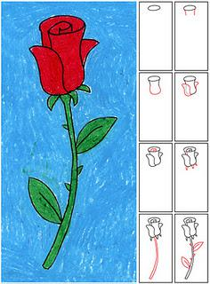 flower diagram career vs wiring how to draw a rose - paperblog