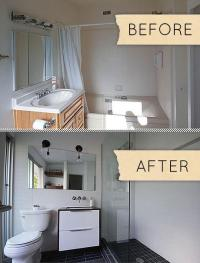 Small Modern Bathroom Remodel: Before & After - Paperblog