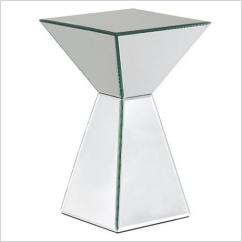 Mirrored Pyramid Living Room Accent Side End Table Decorating Indian Mirror Tables Reviews Paperblog A 13275348