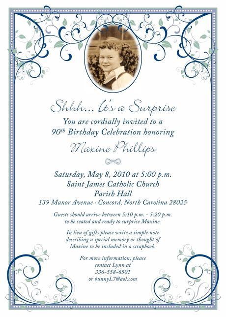 90th birthday invitation cards paperblog