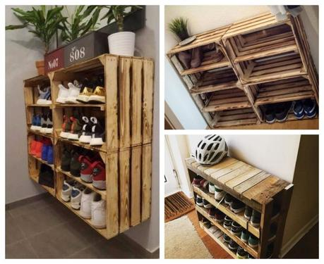over 20 easy to make shoe rack ideas