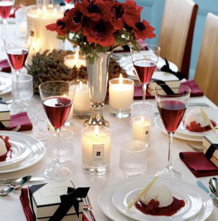 elegant christmas table settings