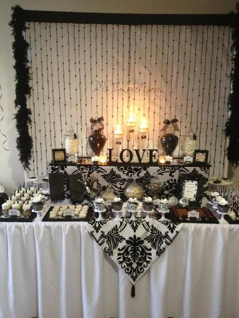 Elegant Dessert Buffett for an Engagement Party by