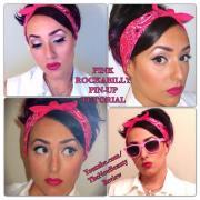 pink rockabilly pin- makeup tutorial