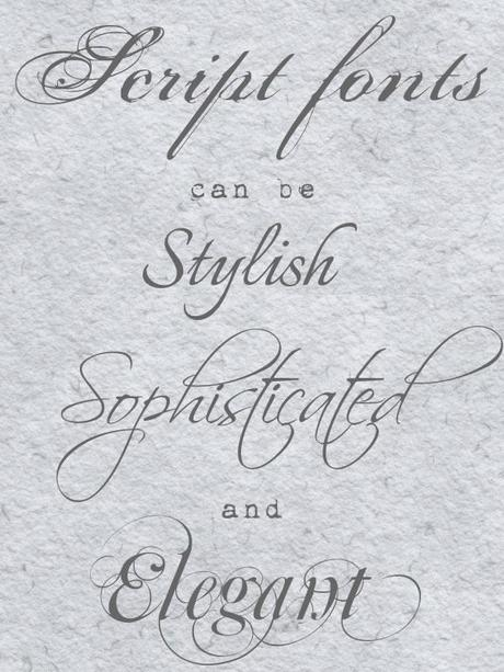 Font Love! Expert Wedding Fonts Advice, with Pictures and