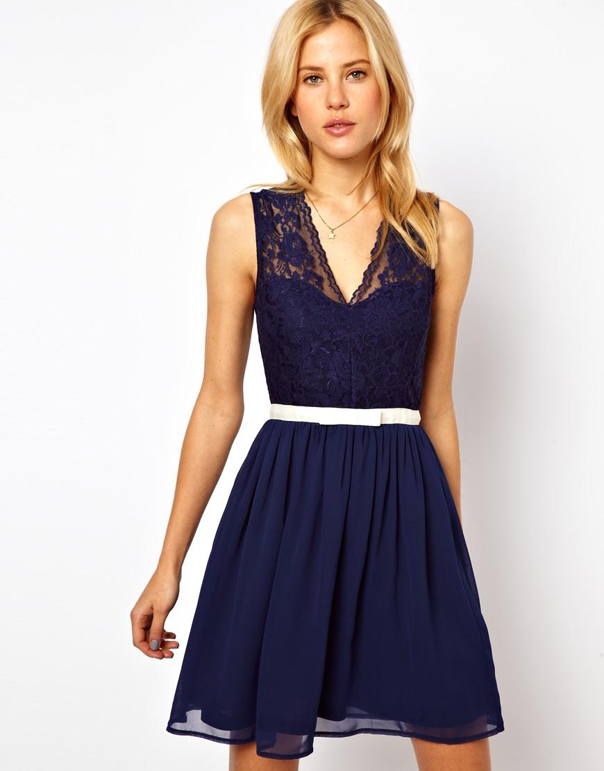 Adorable and Affordable Navy Bridesmaids Dresses