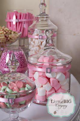 Beautiful Pink Candy Buffet for a Special Girl  Paperblog