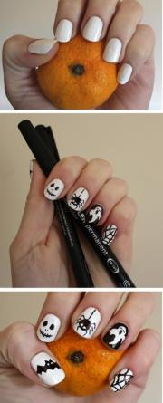 diy easy nail art design halloween
