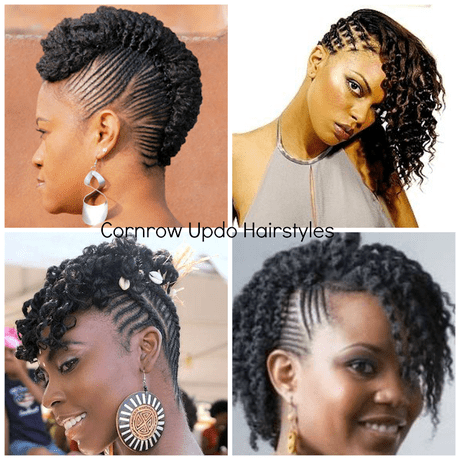 Natural Hair Cornrow Updos One Of The Dopest Protective Styles