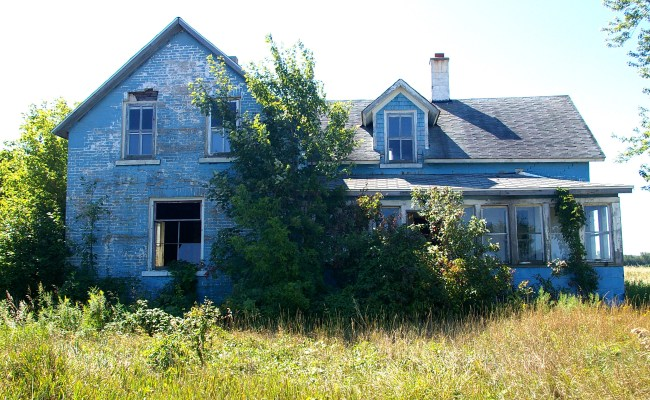 Abandoned Blue House Mike S Look At Life