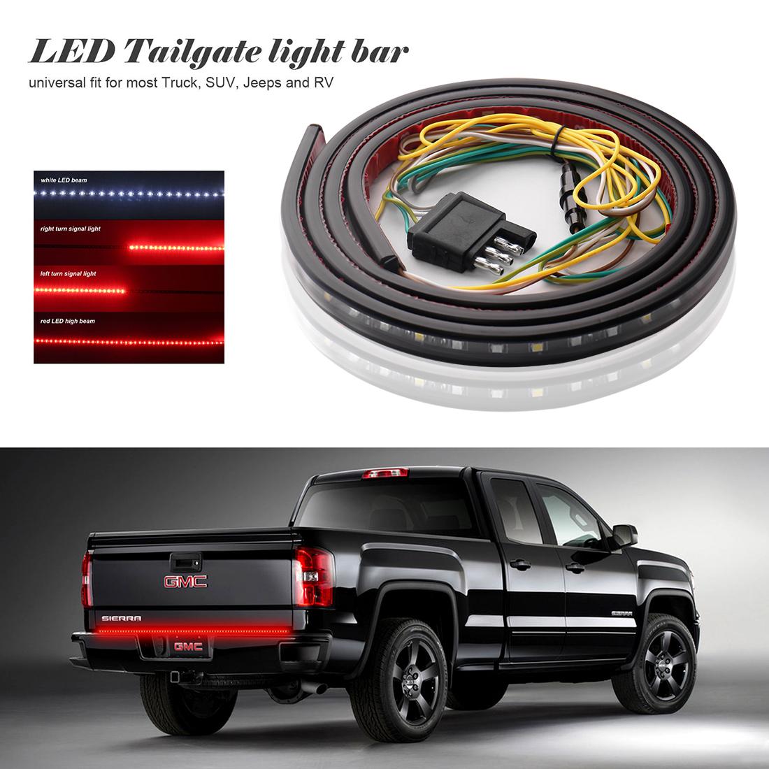 led tailgate bar 3 5 mm stereo jack wiring diagram 60 quot light reverse brake turn signal for
