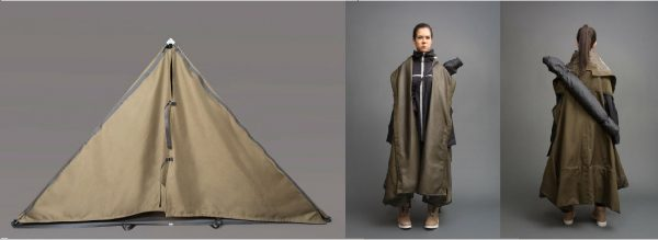 ジャケットがテントになる!誰もが驚く救済グッズ!