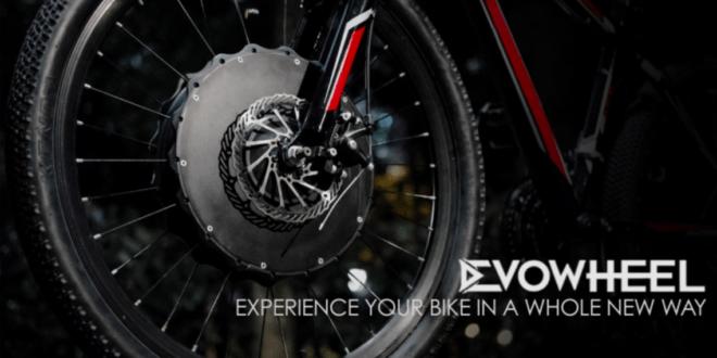 「EvoWheel」 で お好みの自転車が、 簡単に電動アシスト付きに変身!