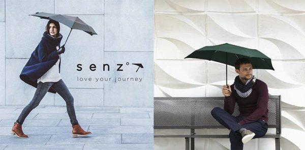 最強の折りたたみ傘「Senz ゚Micro」は、時速70km/hの強風にも耐えられます。