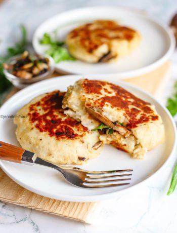 Gâteaux de Pommes de terre farcies aux champignons
