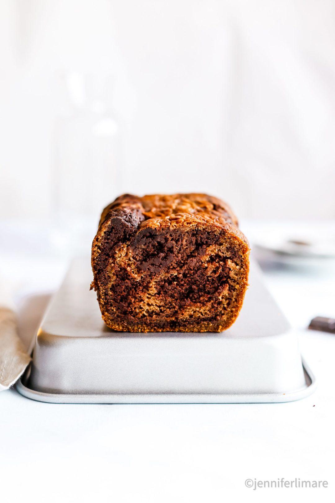 Gâteau marbré sans gluten vegan