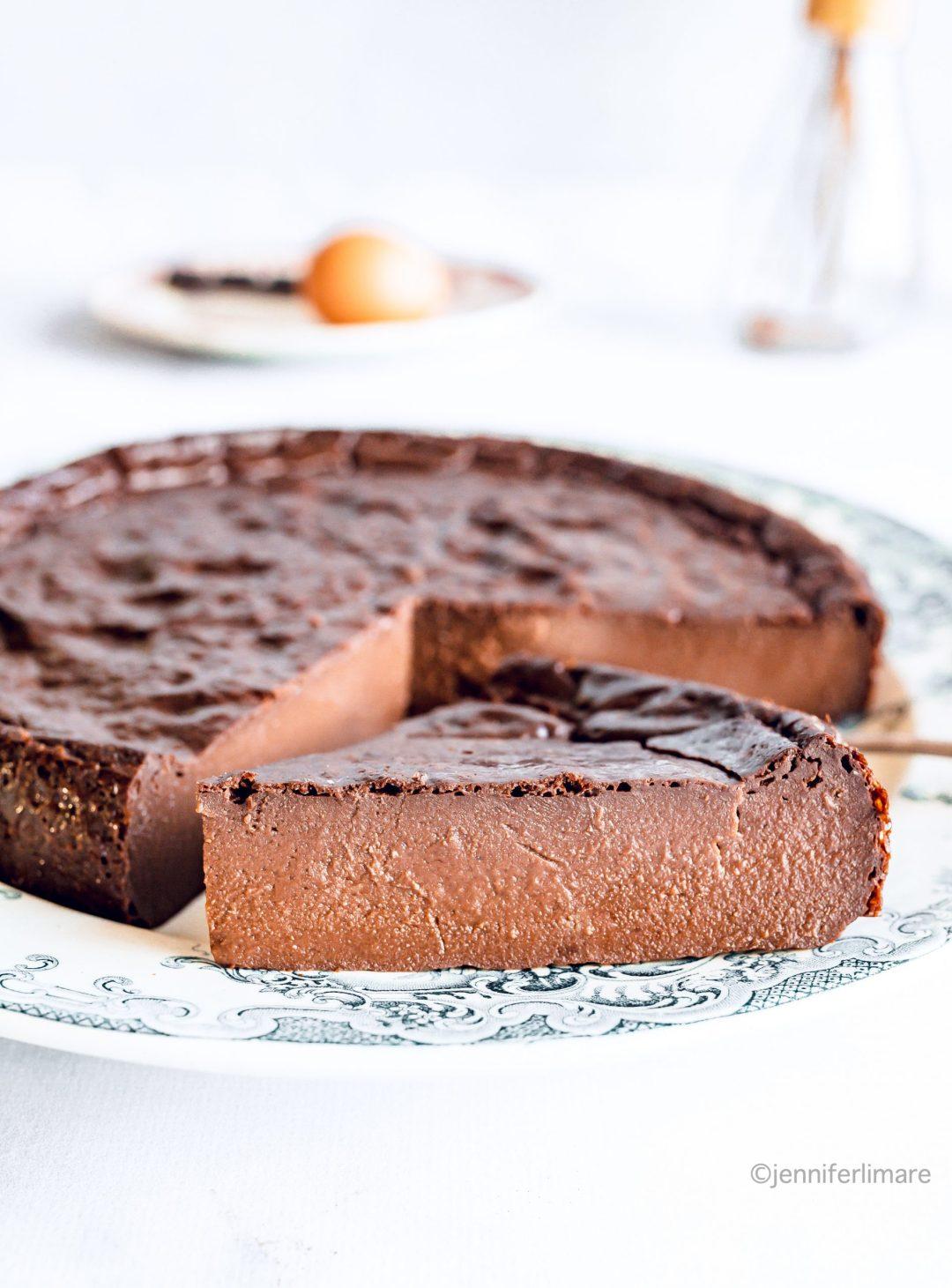 Flan au chocolat maison sans pâte 1