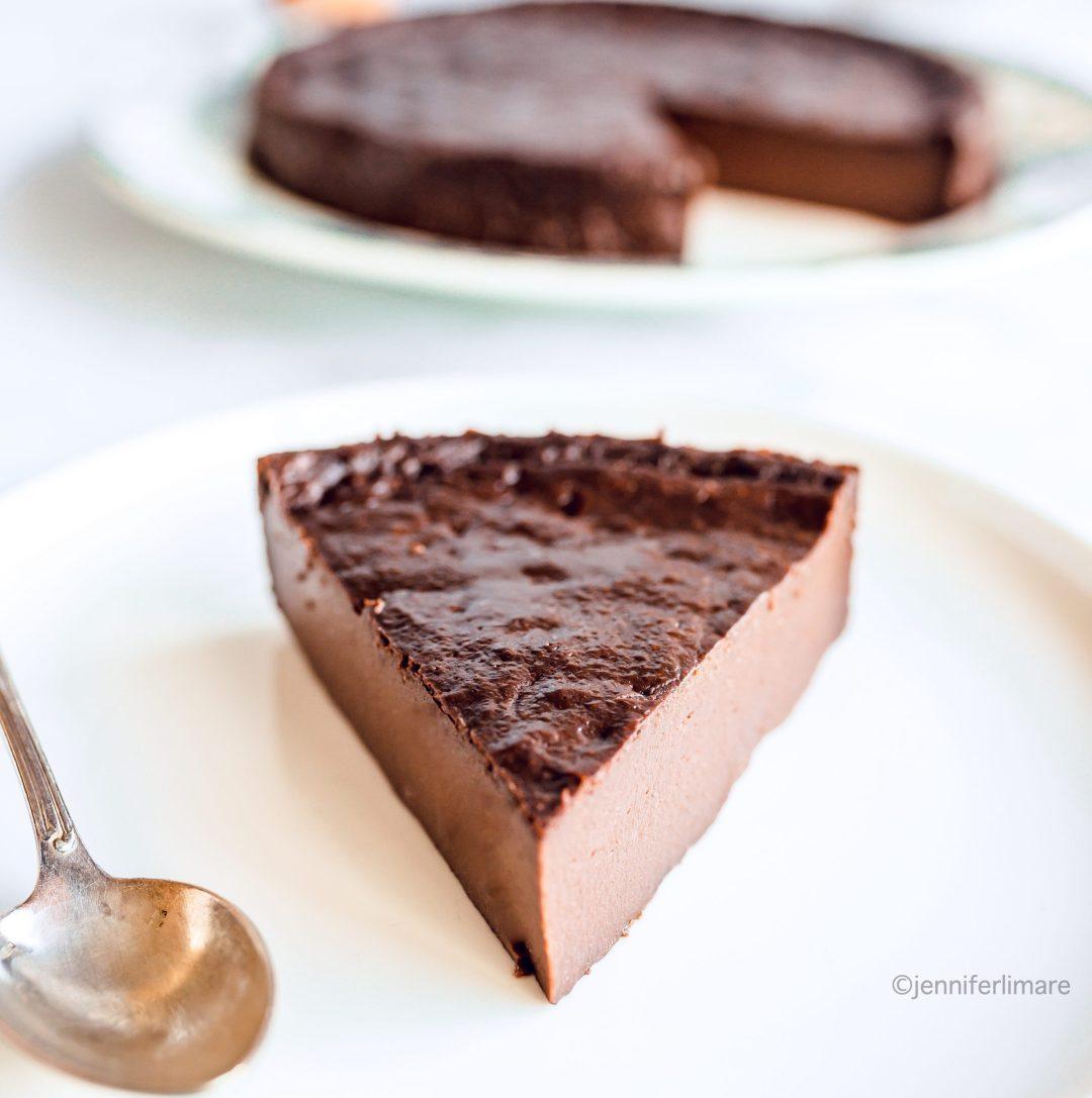 Flan au chocolat maison sans pâte 8