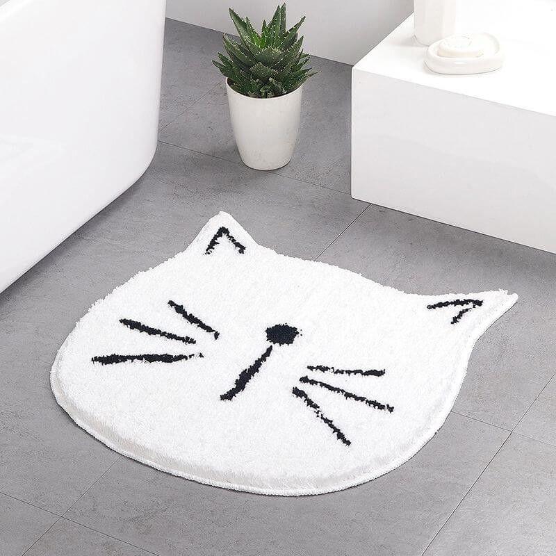 tapis de bain original forme chat