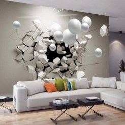 blanc avec un effet 3D