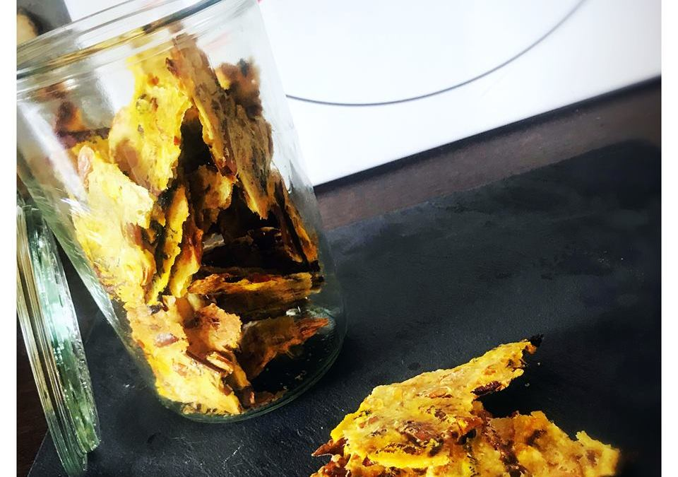 Crackers aux épluchures de courge #vegan