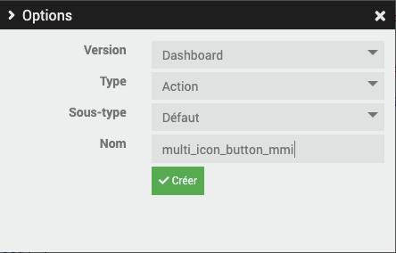 Création widget multi icône