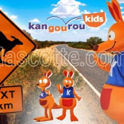 Fabrication Mascotte Sur Mesure kangourou KANGOUROU KIDS (mascotte animal sur mesure).