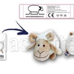 Fabrication Peluche Sur Mesure mouton ISLE SAINT PIERRE (peluche animal sur mesure).