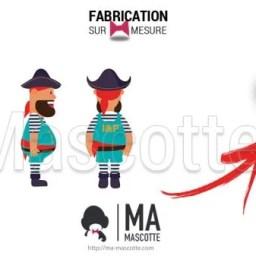 Fabrication Mascotte Sur Mesure pirate SNCF (mascotte personnage sur mesure).