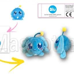 Fabrication Peluche Sur Mesure balle bleue PRIXTEL (peluche objet sur mesure).